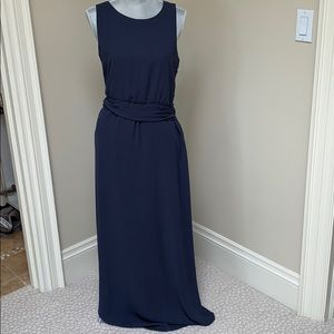 THEORY NAVY BLUE Maxi Dress
